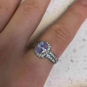 Charmed Aroma Purple Ring Sz 7 Sterling Silver